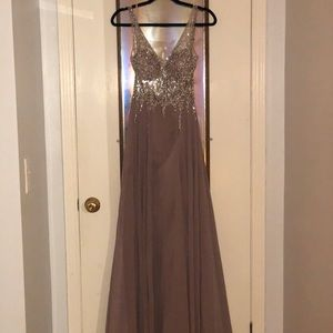 PROMGIRL dress with embroidered sparkling beads